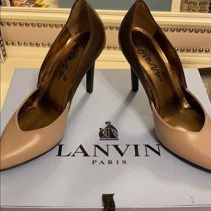 LANVIN Paris LEATHER HIGH HEELS